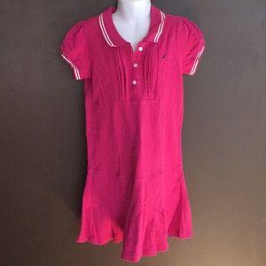 Girls Nautica fuchsia polo dress size 8